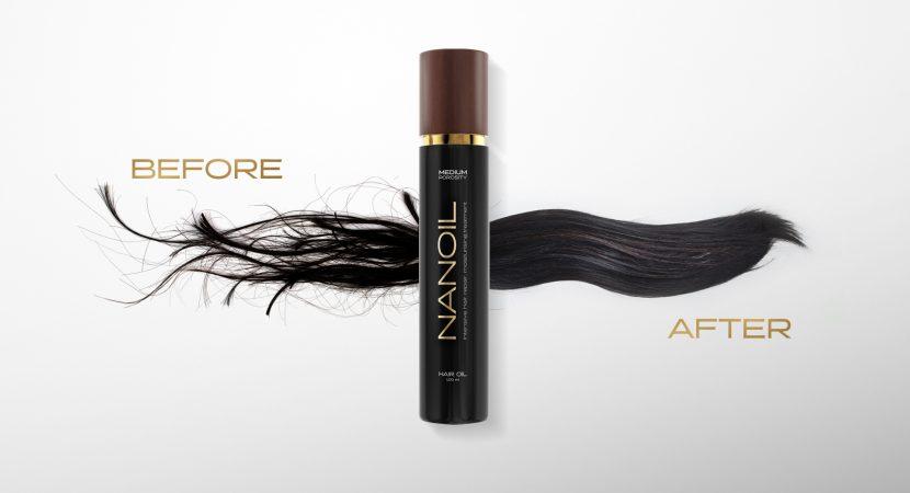 Régénération des cheveux avec les meilleurs cheveux huile Nanoil